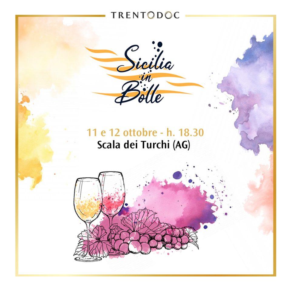 Trentodoc a Sicilia In Bolle